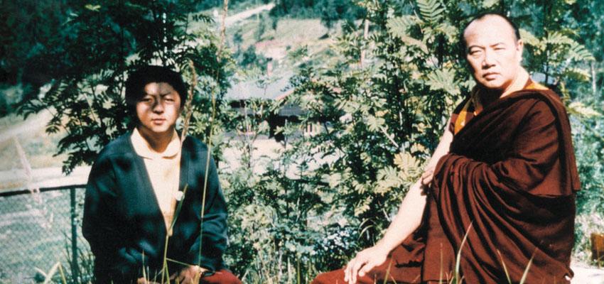 Jo Šventenybė XVI Karmapa (dešinėje) su Džigme Rinpoče