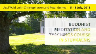 Buddhist meditation and teachings course in Stupkalnis