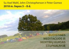 Budistinės meditacijos ir mokymų kursas Stupkalnyje